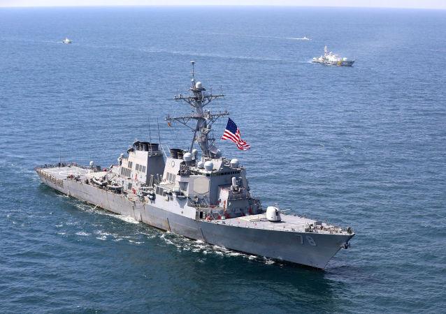 美軍一艘伯克級驅逐艦穿航台灣海峽