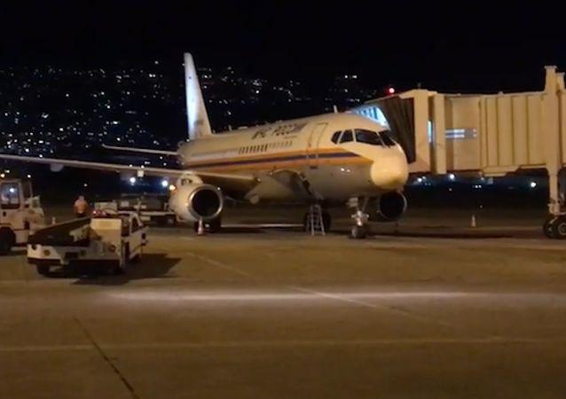 第二架載有專業人員的俄緊急情況部救援飛機在貝魯特降落