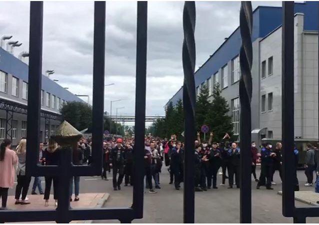 白俄羅斯汽車廠的抗議活動