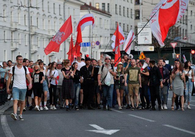 白俄內務部:沒有一個人在最近幾天的抗議活動中被拘留