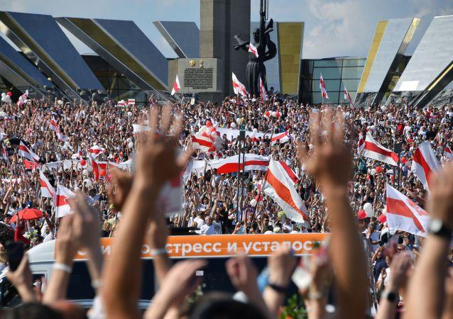盧卡申科:西方國家資助白俄羅斯的抗議活動