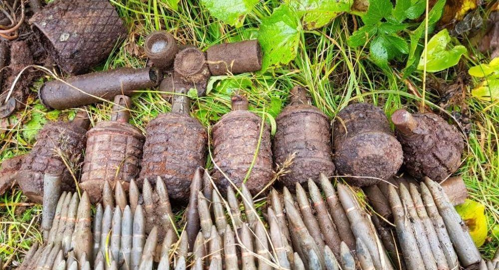 佔守島上找到的二戰遺物