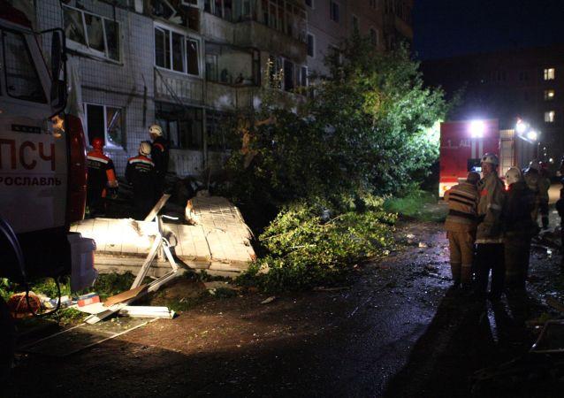 雅羅斯拉夫爾燃氣爆炸現場的救援工作已結束
