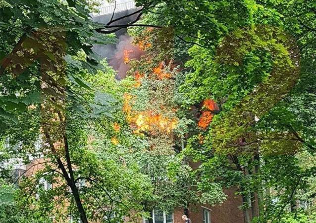 莫斯科西部一棟五層樓發生煤氣爆炸