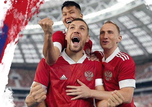 俄羅斯國家足球隊新款歐洲杯主場球衣今日亮相