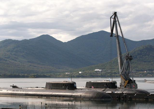 俄太平洋艦隊兩艘潛艇在日本海演練潛艇對抗