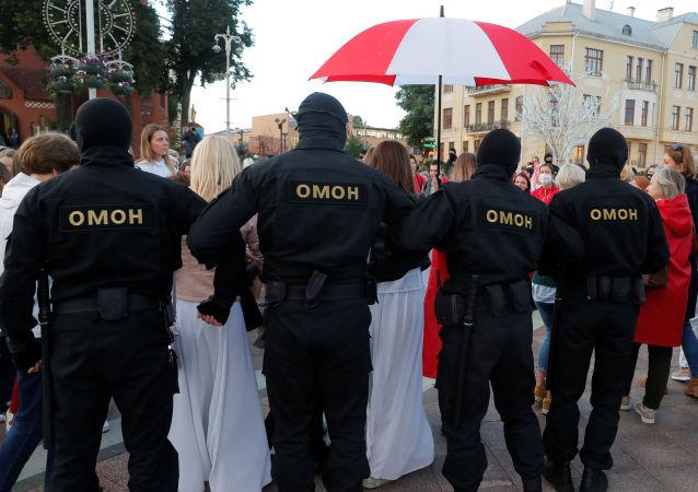 明斯克反對派抗議活動警方逮捕人數升至140人
