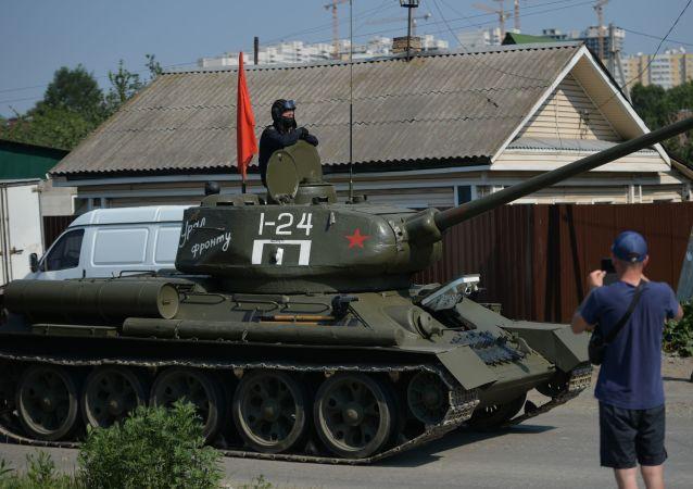 紀念二戰結束75週年閱兵式在南薩哈林斯克進行