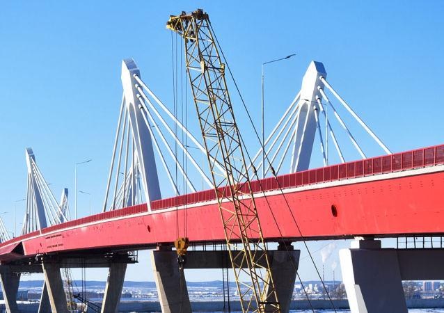 俄阿穆爾州州長期望俄中布拉戈維申斯克-黑河界河公路大橋將於1月開通