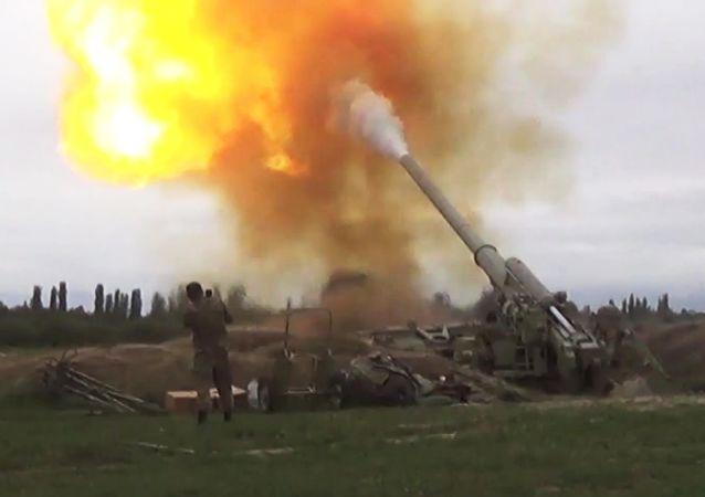 阿塞拜疆軍隊在納戈爾諾-卡拉巴赫