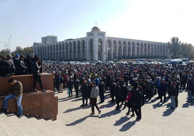 吉爾吉斯斯坦首都比什凱克抗議活動