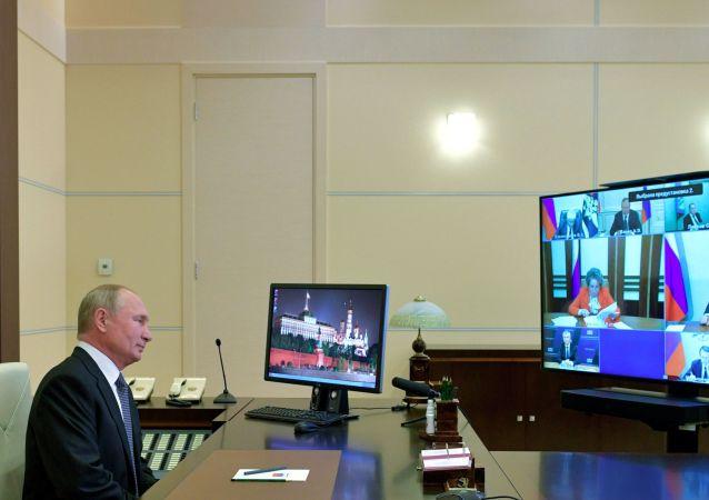 普京與俄安全會議成員討論遠東局勢