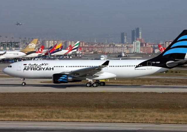 利比亞泛非航空公司的Airbus A330-202客機