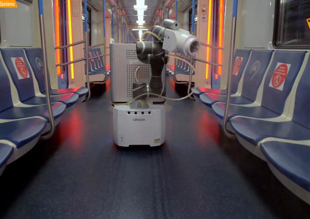 公共場所的消毒機器人