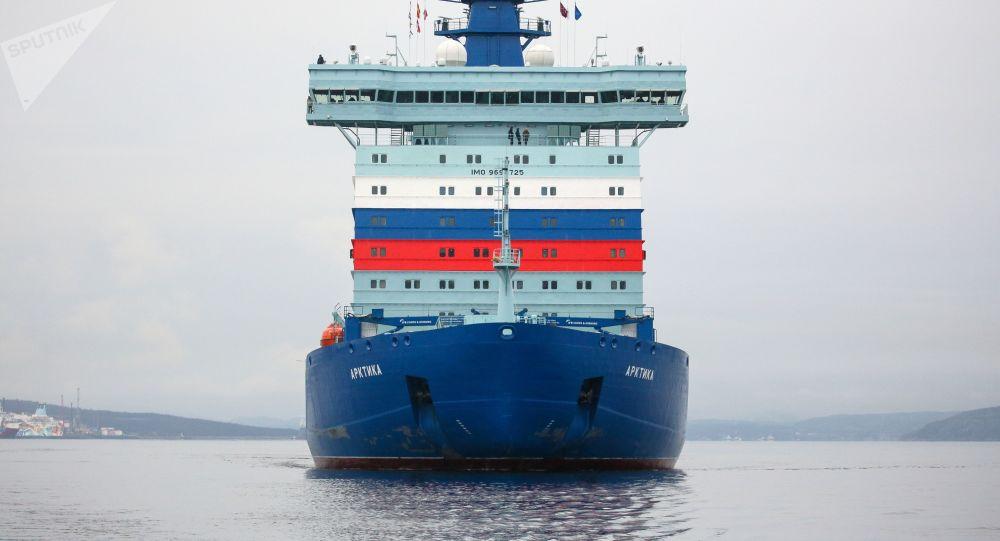 俄核動力破冰船「北極」號首次沿北方海路航行