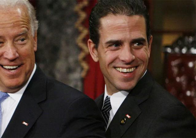 民主黨總統候選人喬•拜登和亨特•拜登