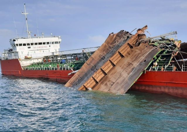 亞速海油輪爆炸事故未引發洩漏 水域未出現油污