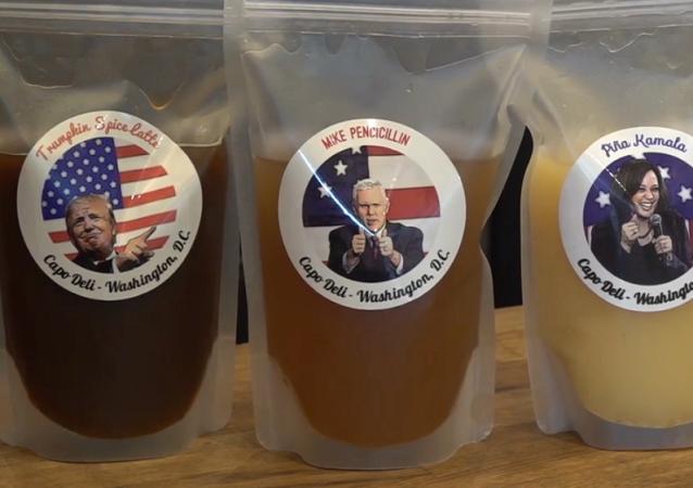 大選前夕華盛頓一家咖啡店推出別樣雞尾酒