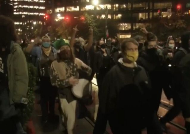 美國大選期間爆發抗議活動