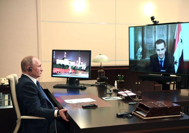 克宮:普京祝願感染新冠的阿薩德早日康復