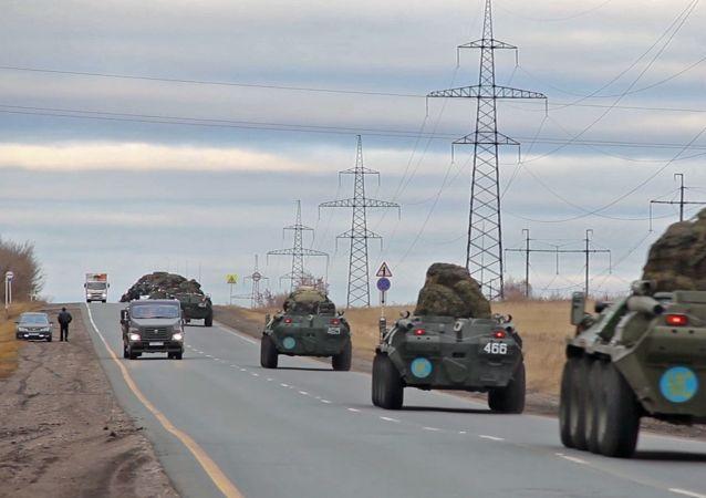 俄國防部:俄羅斯維和部隊在亞美尼亞進行卸載和組建車隊