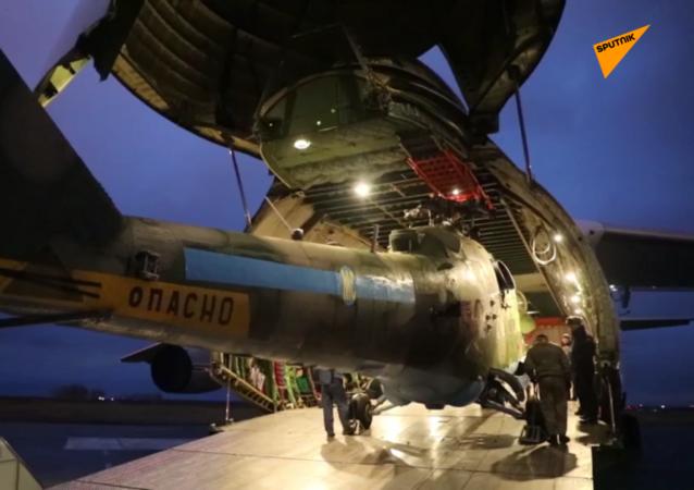 米-8和米-24直升機將參加納卡地區維和行動
