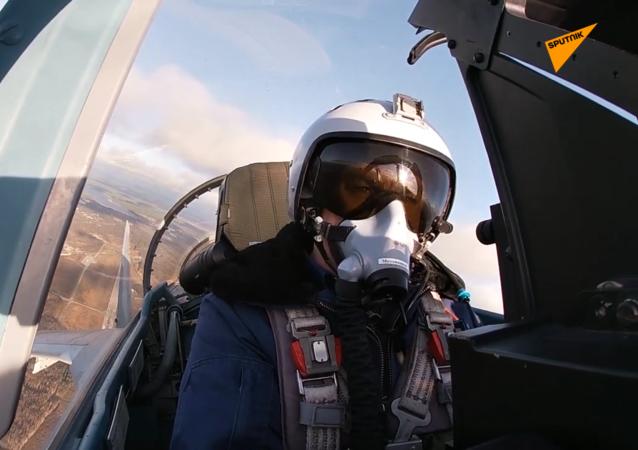 蘇35-S飛行員在卡累利阿舉行演習