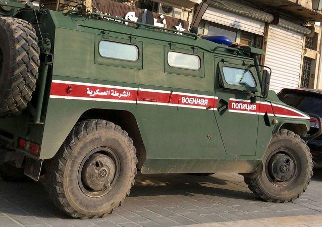 俄軍警虎式裝甲車在敘利亞阿勒頗