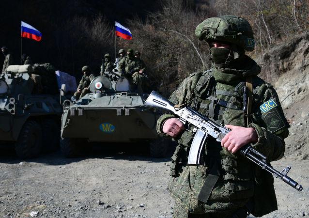 俄維和人員在納卡地區
