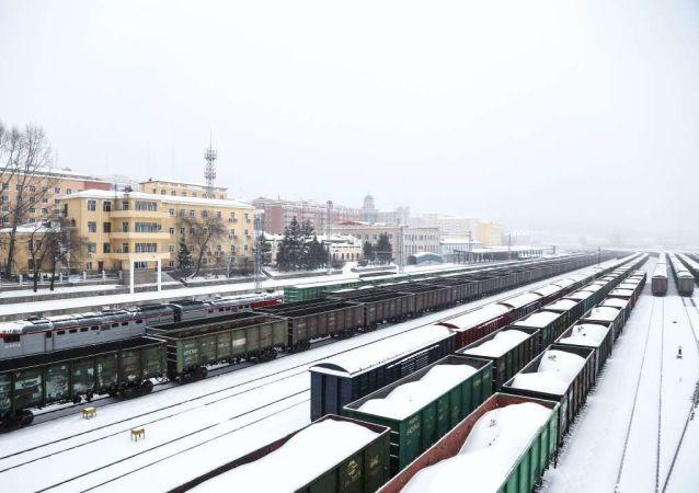 綏芬河鐵路口岸24小時值守除雪確保國境線暢通 接入俄鐵入境貨物列車12列455輛