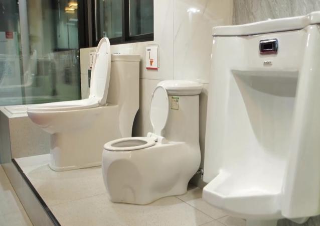 高科技防疫馬桶亮相中國廁博會