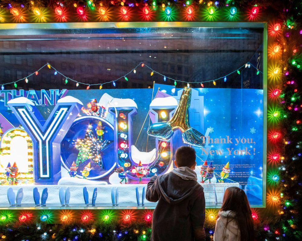 紐約櫥窗的聖誕裝飾