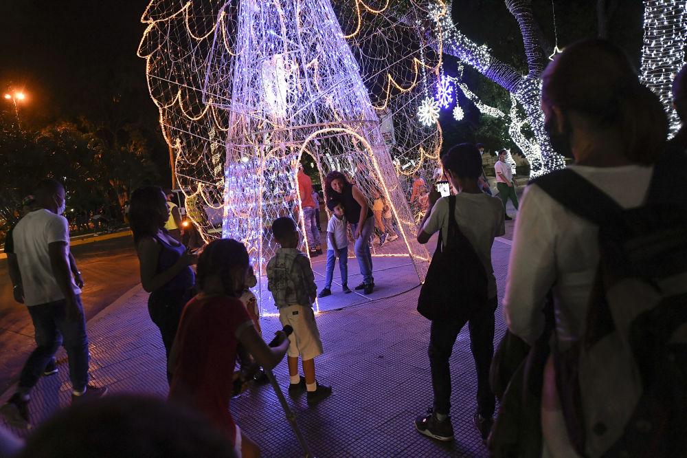 委內瑞拉的聖誕彩燈