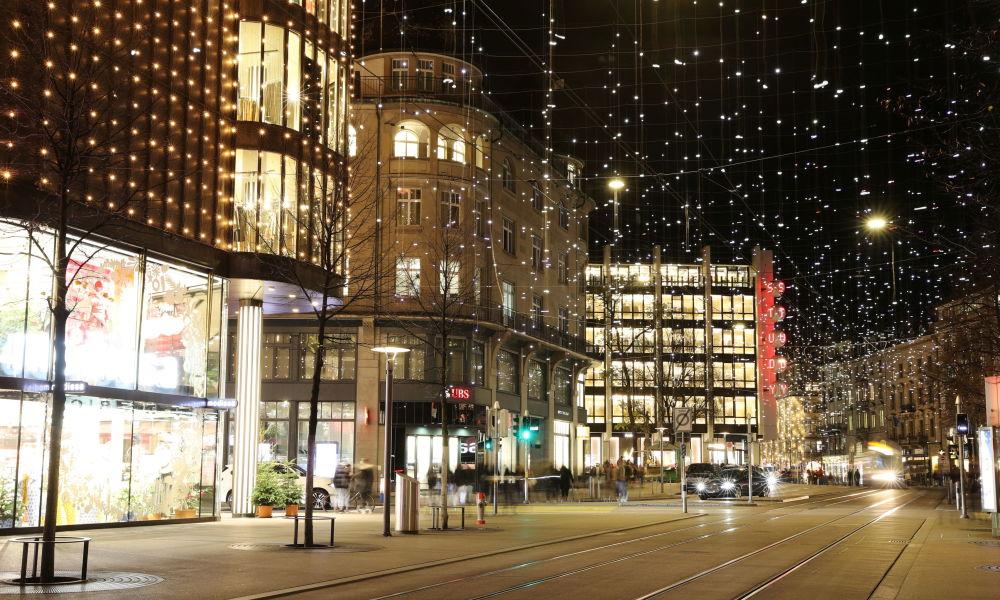 瑞士的聖誕彩燈