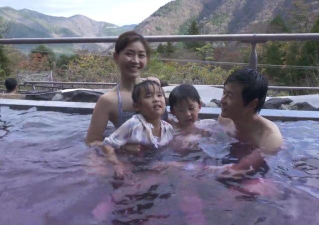 日本的紅酒溫泉浴