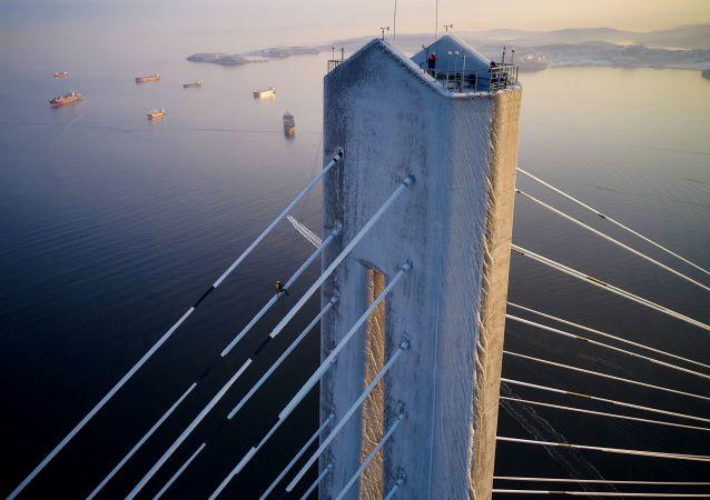 俄濱海邊疆區政府否認通向俄羅斯島大橋將關閉至新年