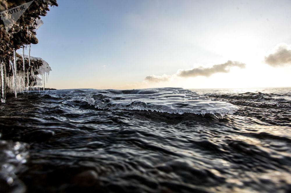 冬季的貝加爾湖