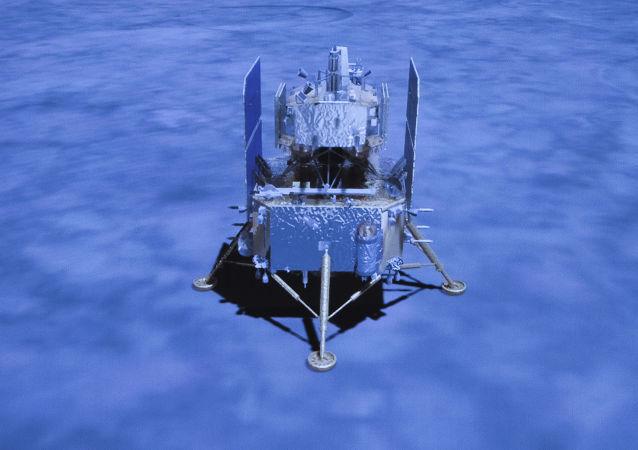 中國嫦娥五號探測器成功在月球正面預選著陸區著陸