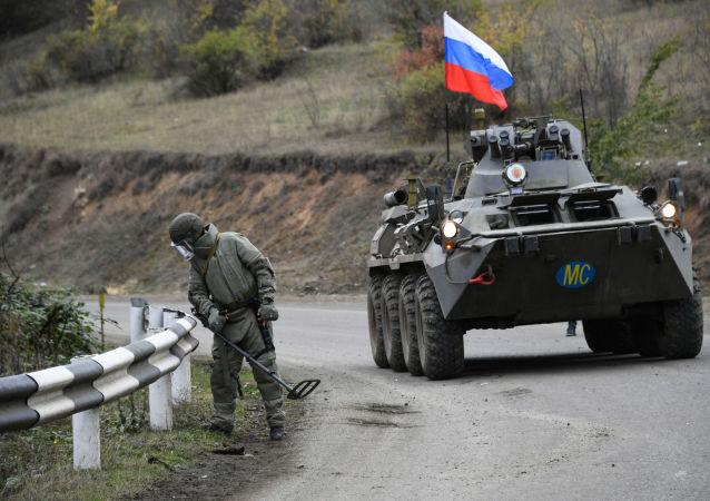 俄維和部隊在納卡地區排雷清除面積超3公頃