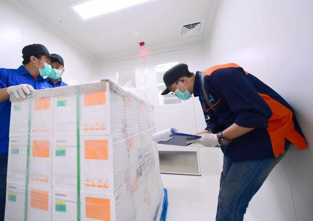 中國科興疫苗箱子