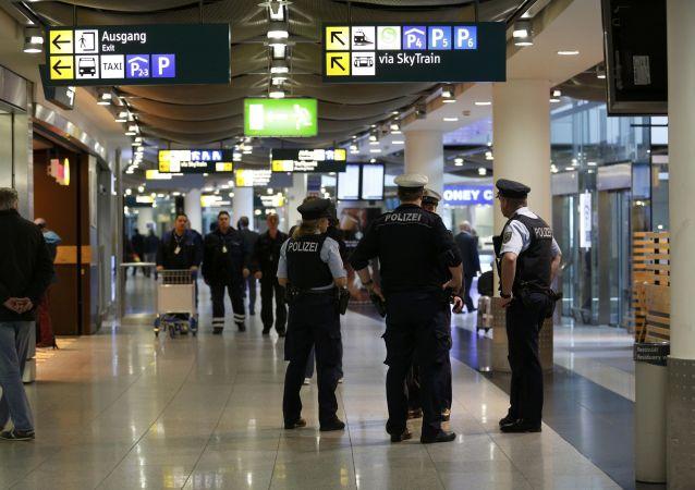 在德國杜塞爾多夫機場