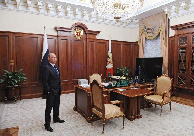 普京總統在莫斯科郊區的新奧加廖沃官邸