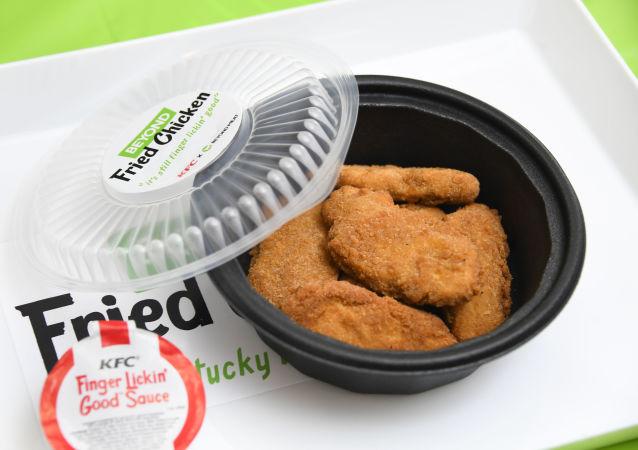 肯德基公司販賣的Beyond Meat生產的植物肉