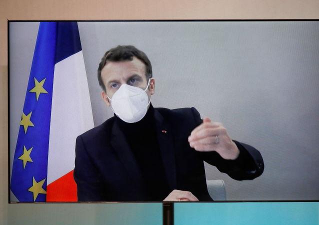 法國總統馬克龍病情穩定