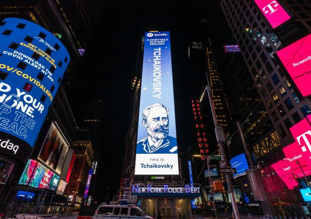音樂服務平台Spotify講述為何柴可夫斯基廣告牌出現在紐約時代廣場上