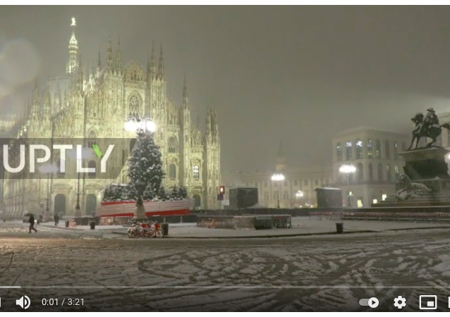 意大利城市遇大雪襲城