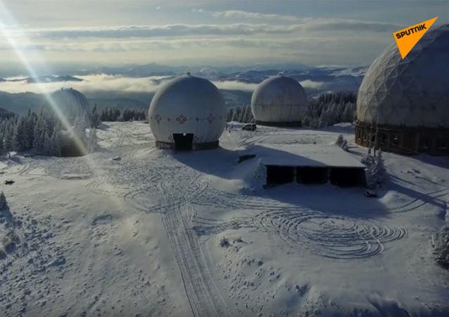 航拍烏克蘭廢棄保密雷達站「帕米爾」