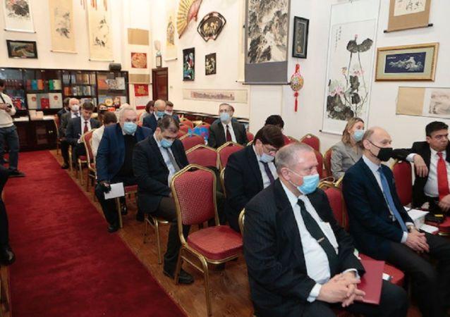 俄中友好協會會議與會人員