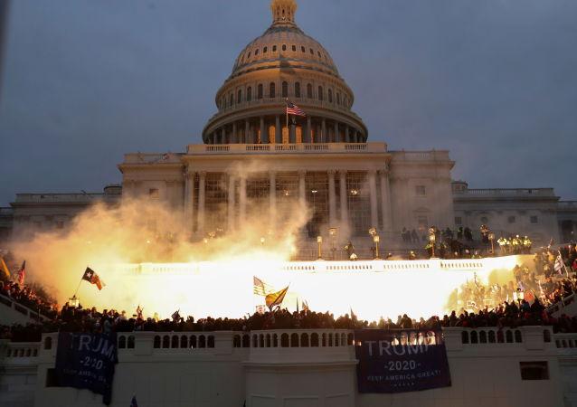 美國總統特朗普譴責國會大廈暴力事件