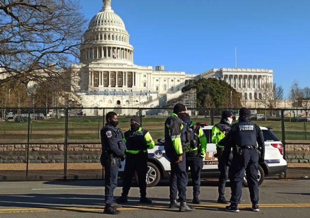 外媒:在美國國會大廈附近衝撞警察的人患有幻覺和自殺念頭